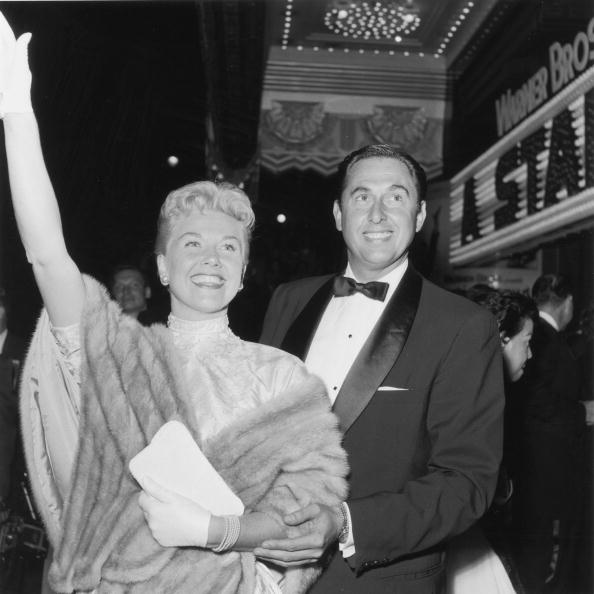 """Doris Day and Marty Melcher, at the premiere of director George Cukor's film, """"A Star is Born,"""" Hollywood, California in 1954.   Photo: Getty Images"""