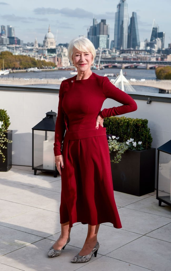 "Dame Helen Mirren attends ""The Good Liar"" photocall at The Corinthia Hotel,October 30, 2019 