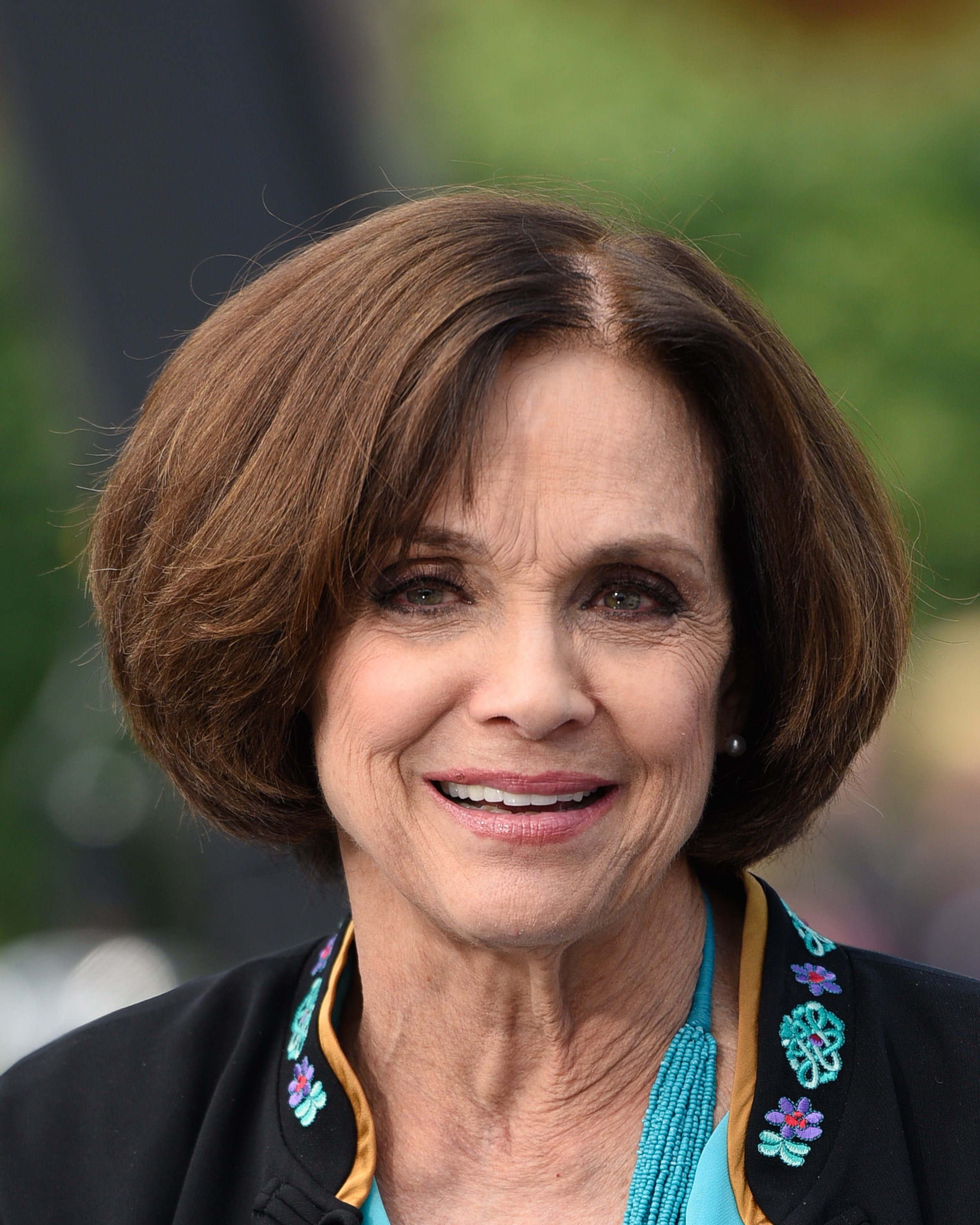 "Valerie Harper visits ""Extra"" at Universal Studios Hollywood, California. 