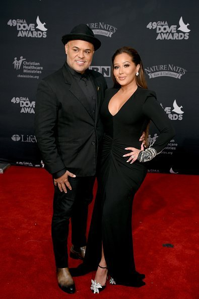 Israel Houghton and Adrienne Bailon at the 49th Annual GMA Dove Awards on October 16, 2018 | Photo: Getty Images