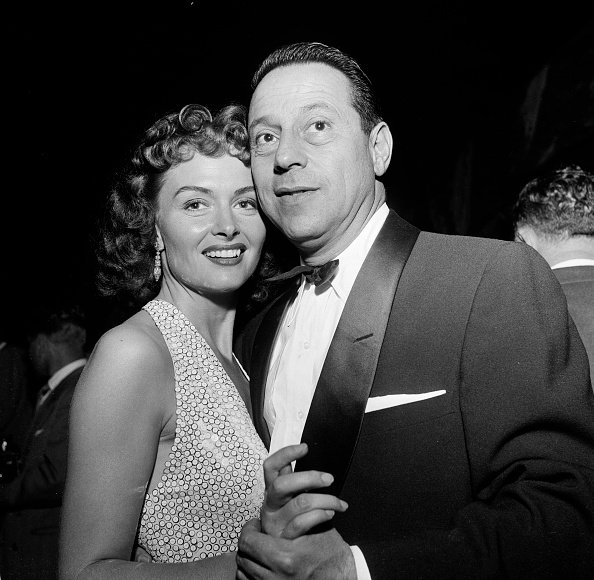 Donna Reed and husband Tony Owen at the opening night for Tony Martin at the Cocoanut Grove in Los Angeles, California | Photo: Getty Images