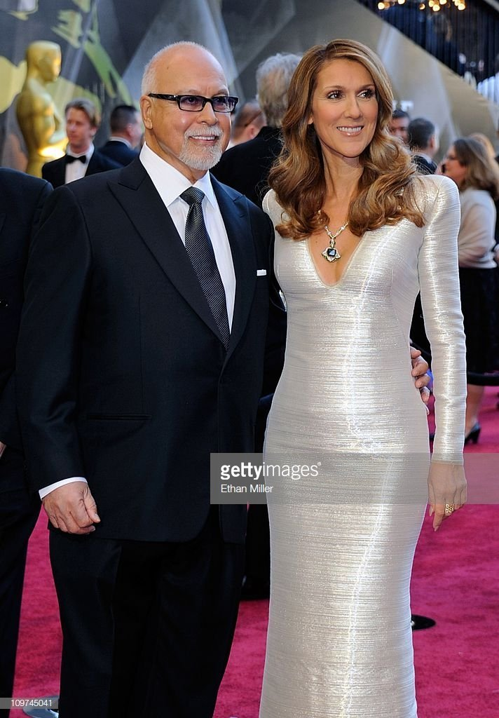 René Angelil et Céline Dion, arrivent à la 83e cérémonie annuelle des Academy Awards au Kodak Theatre le 27 février 2011, à Hollywood, Californie. | Photo : Getty Images.