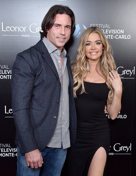 Denise Richards and Aaron Phypers at Sunset Tower Hotel on February 05, 2020 in West Hollywood, California. | Photo: Getty Images
