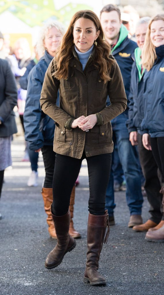 Kate Middleton made a surprise visit to The Ark Open Farm on February 12, 2020, in Newtownards, Northern Ireland | Source: Getty Images (Photo by Samir Hussein/WireImage)