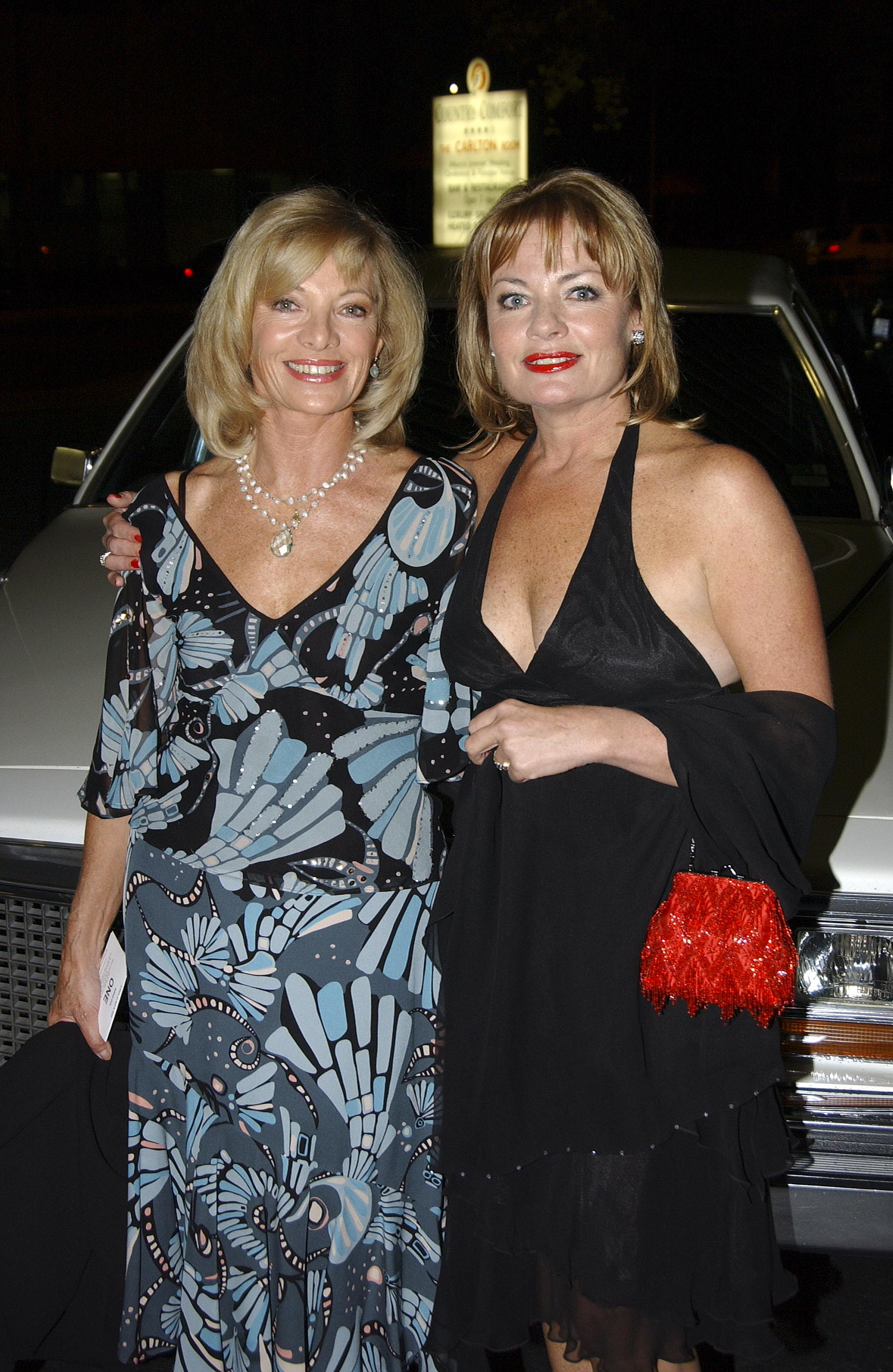 "Carmen Duncan and sister Paula Duncan at the premiere of ""Strange Bedfellows"" 