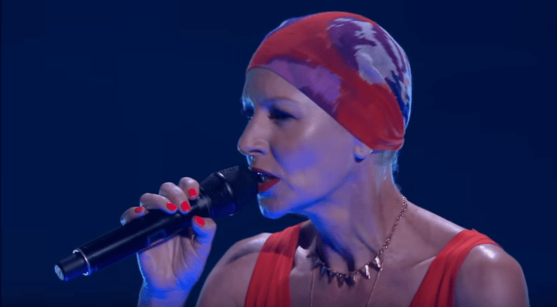 Late Natasha Stuart performed in the eighth series of The Voice Australia in 2019   Photo: youtube.com/The Voice Global
