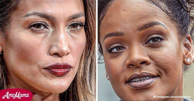 Revelan los rostros reales, sin maquillaje y sin filtros, de las mujeres más famosas del mundo