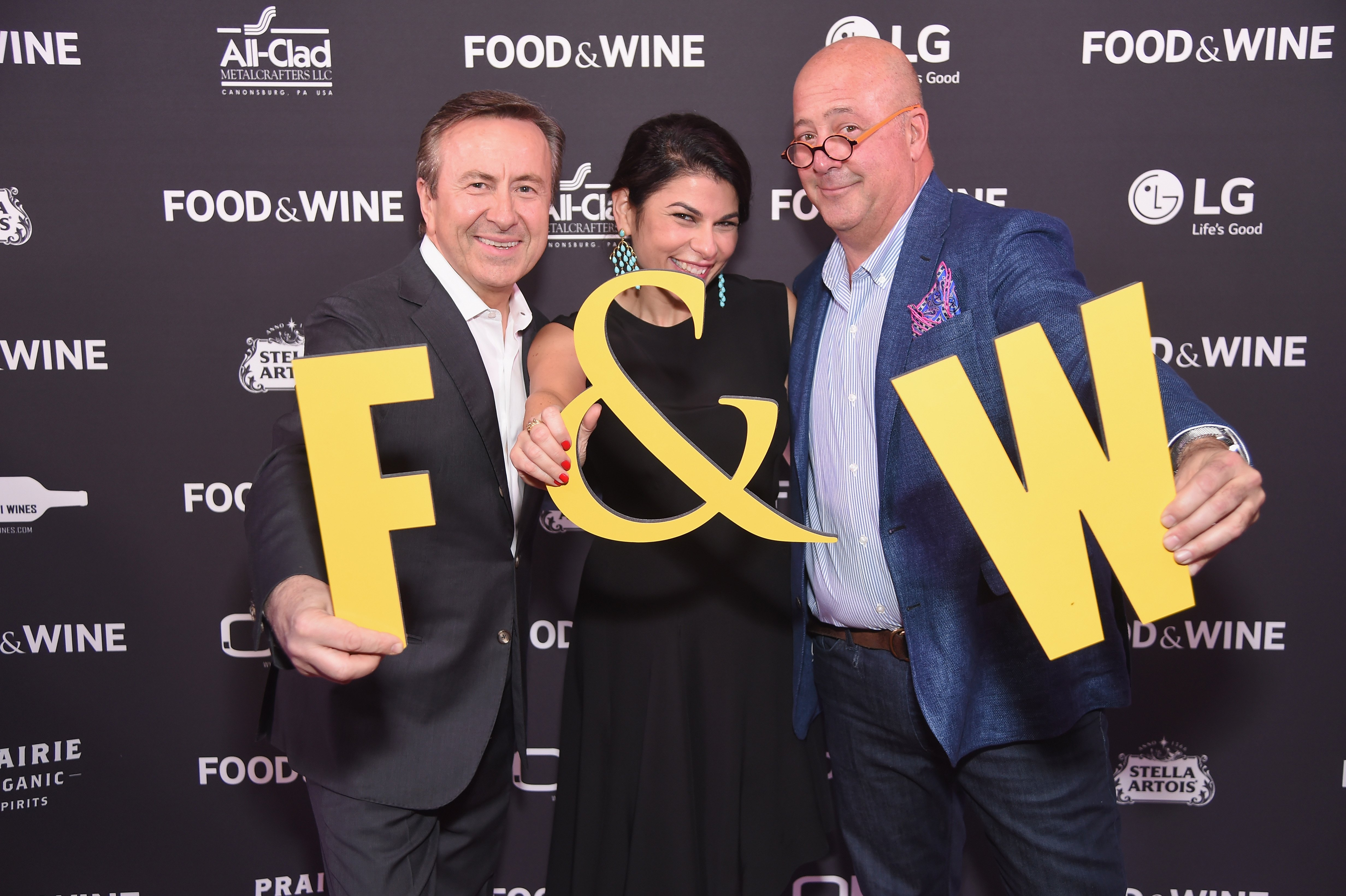 Chef Daniel Boulud, Nilou Motamed, Editor of Time Inc.'s Food & Wine, and Andrew Zimmern attend the Food & Wine Celebration of the 2017 | Source: Getty Images