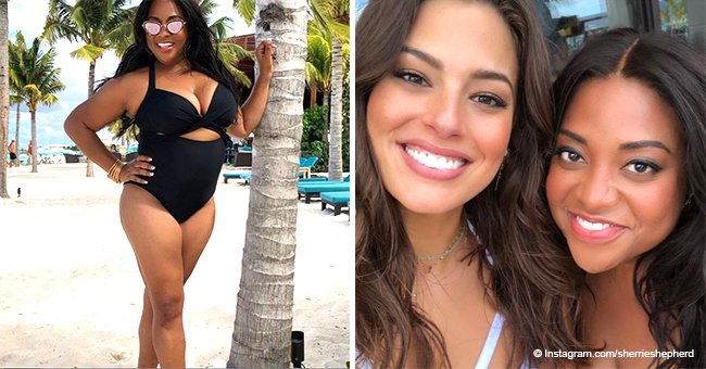 Sherri Shepherd flaunts her 25lb weight loss in swimsuit photo shoot with model Ashley Graham