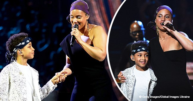 Alicia Keys' Son Egypt, 8, Steals the Show as Mom Invites Him on Stage to Perform Her Latest Tune