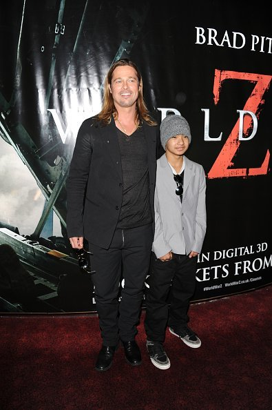 Brad Pitt and Maddox Jolie-Pitt at The Empire Cinema on June 2, 2013 in London, England | Photo: Getty Images