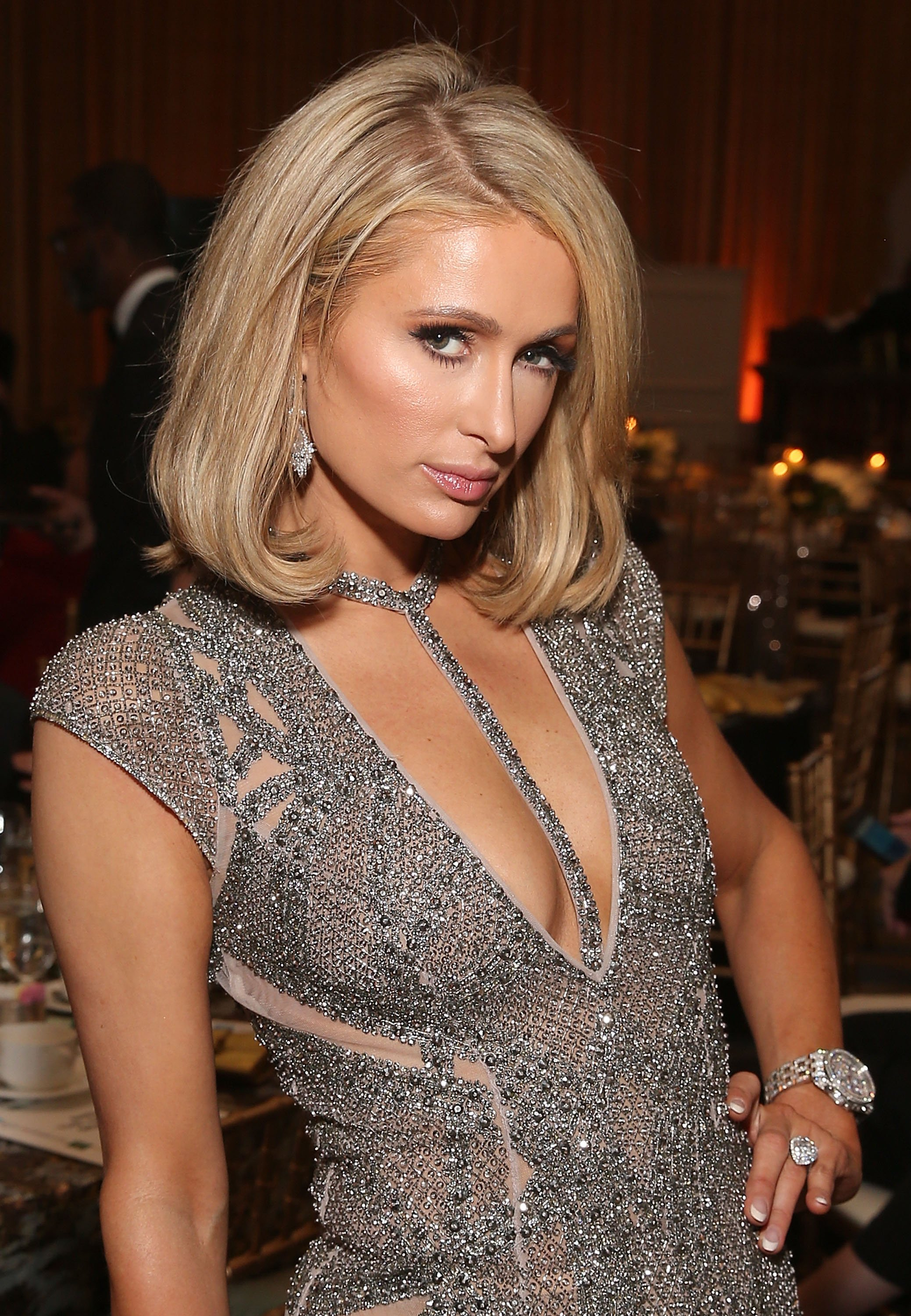 Paris Hilton attends an Oscar Gala Viewing Party in Los Angeles on March 4, 2018 | Photo: Getty Images