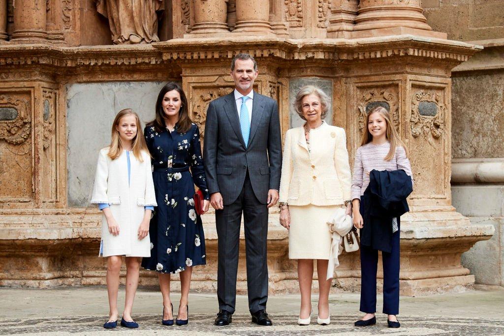 La familia real asiste a la Misa de Pascua en la Catedral de Palma.| Fuente: Getty Images