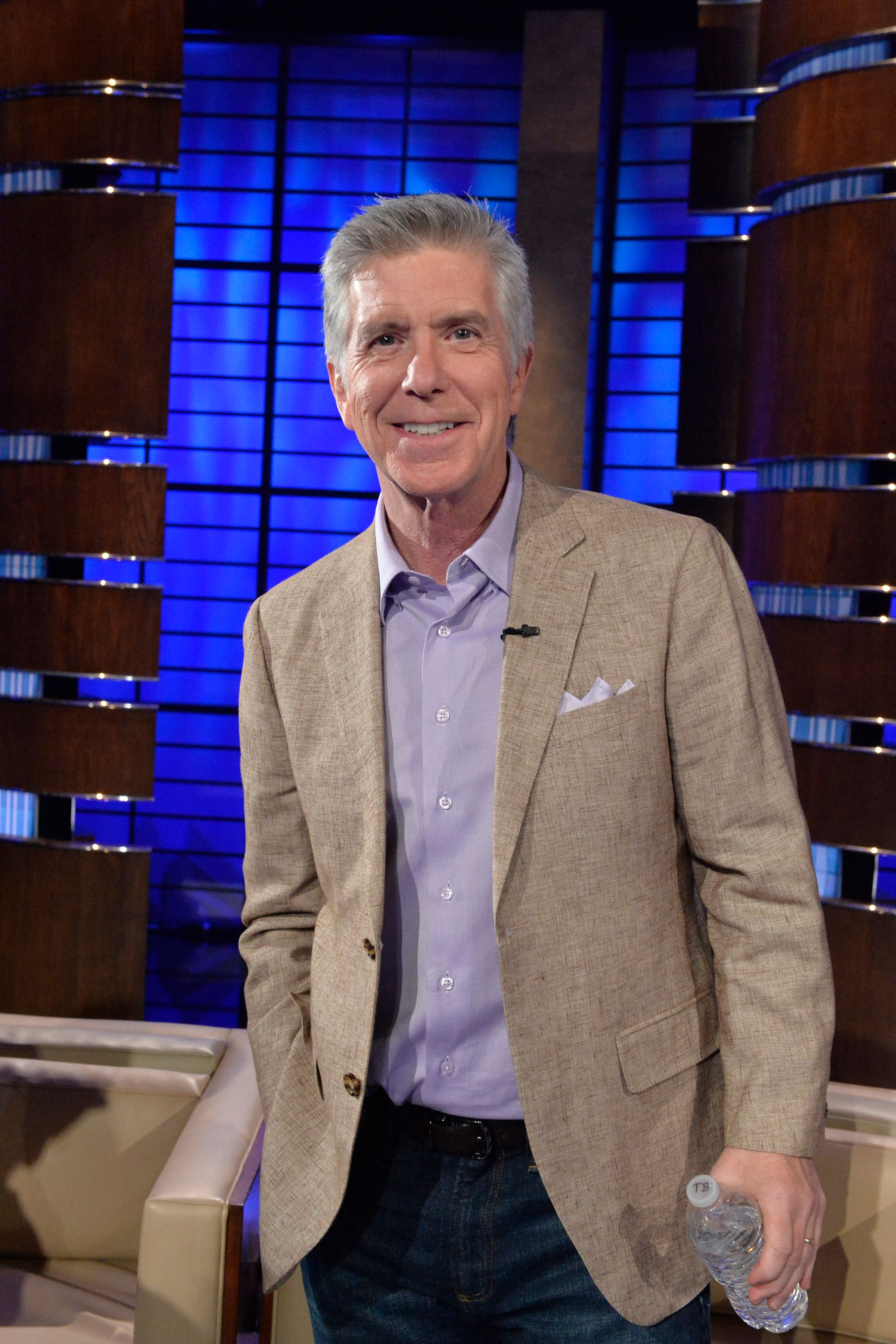 """Tom Bergeronon the set of """"To Tell The Truth,"""" on November 13, 2016 