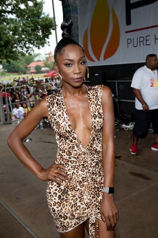 Angelica Ross poses for a picture while at an outdoor festival   Source: Getty Images/GlobalImagesUkraine