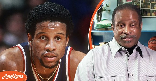 Ray Williams playing in the NBA in the late 1970s and Williams in his 50s | Photo: Getty Images