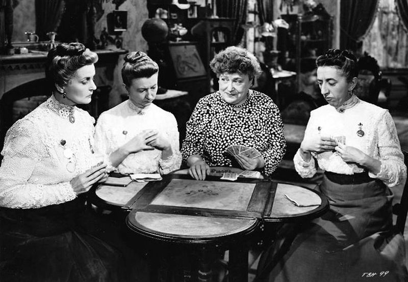 "Moyna Macgill, Irene Ryan, Florence Bates and Margaret Hamilton in ""Texas, Brooklyn and Heaven"" 
