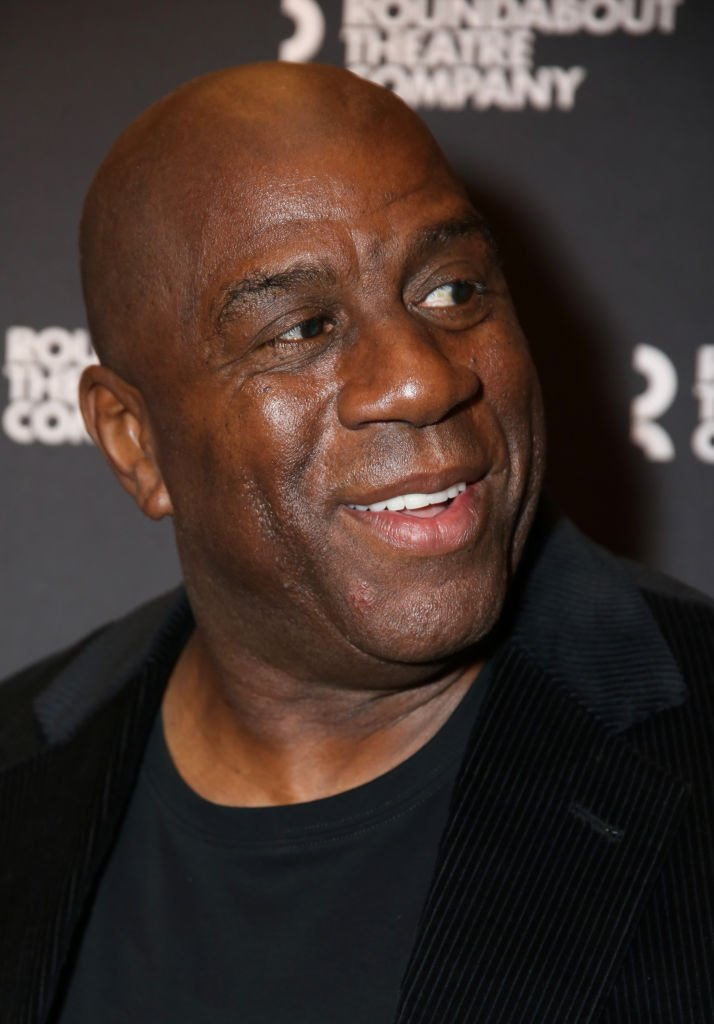 "Magic Johnson attends the Broadway Opening Night performance for The Roundabout Theatre Company's ""A Soldier's Play"" at the American Airlines Theatre 