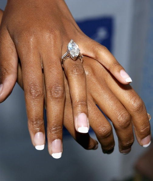An engagement ring on a woman's finger. | Photo: Getty Images