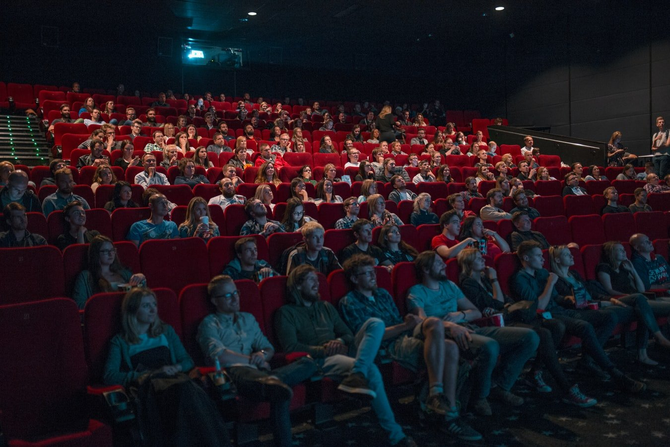People watching a movie in a cinema. | Photo: Unsplash/Krists Luhaers