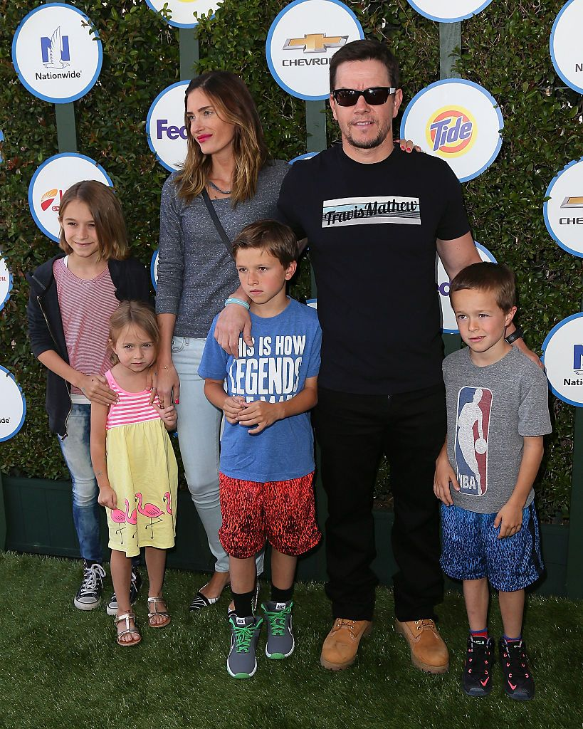 Mark Wahlberg, Rhea Durham and their children attend Safe Kids Day at The Lot on April 26, 2015 in West Hollywood, California.   Photo: Getty Images