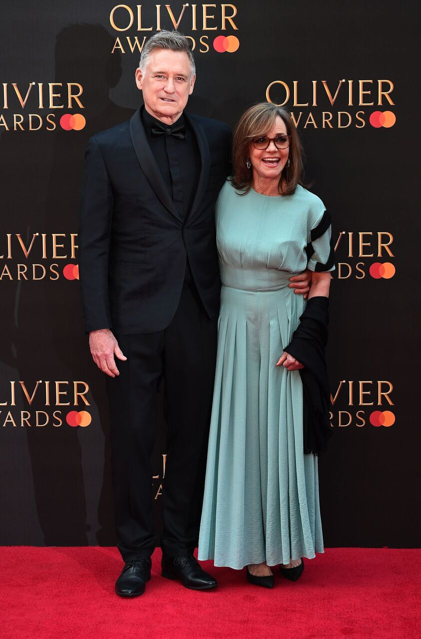 Bill Pullman and Sally Field attend The Olivier Awards 2019.   Source: Getty Images