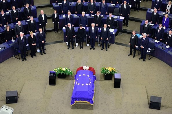 Helmut Kohls Memorial im europäischen Parlament, Frankreich, 1. Juli 2017   Quelle: Getty Images