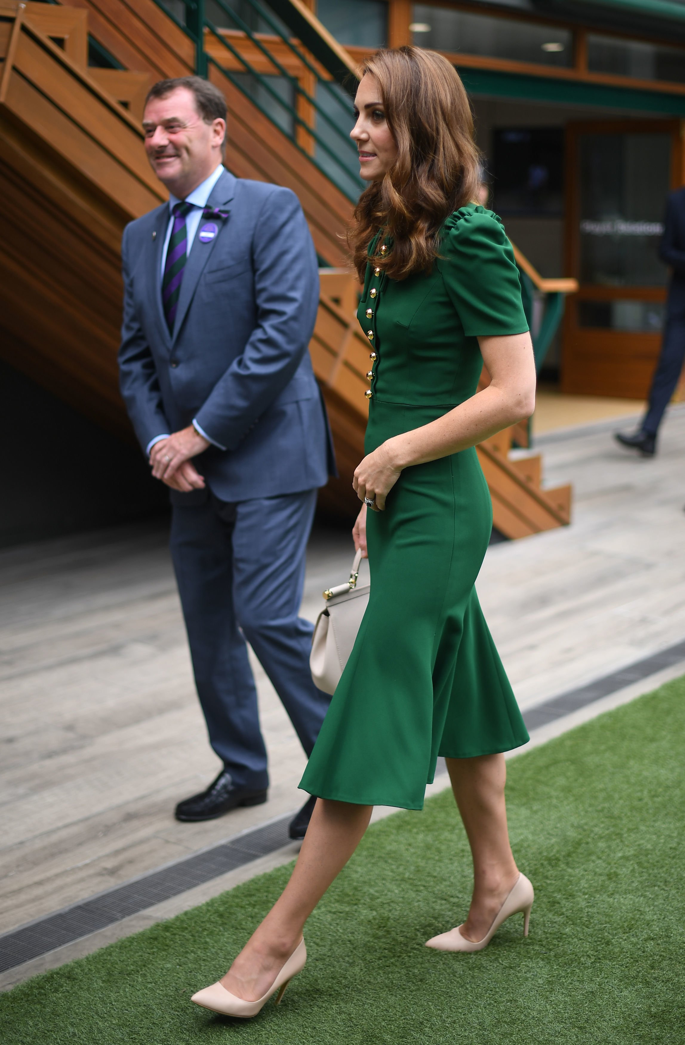 Kate Middleton à la finale du simple dames. l Source : Getty Images