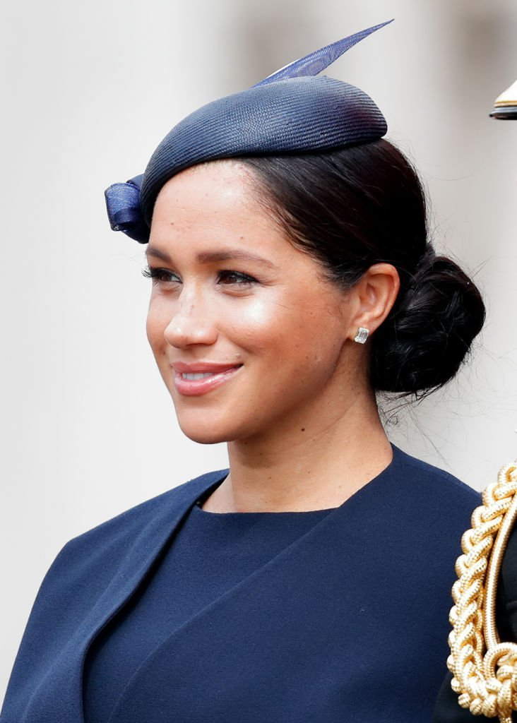 Meghan, Duchess of Sussex travels down The Mall in a horse drawn carriage during Trooping The Colour, the Queen's annual birthday parade | Photo: Getty Images