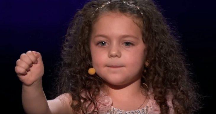 La petite Sophie. l Source: YouTube/AmericasGotTalent