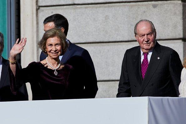 La Reina Sofía y el Rey Juan Carlos I en el 40 aniversario de la Constitución. | Imagen: Getty Images
