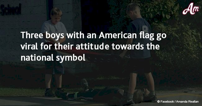Three Boys with American Flag became viral due to their attitude towards the national symbol