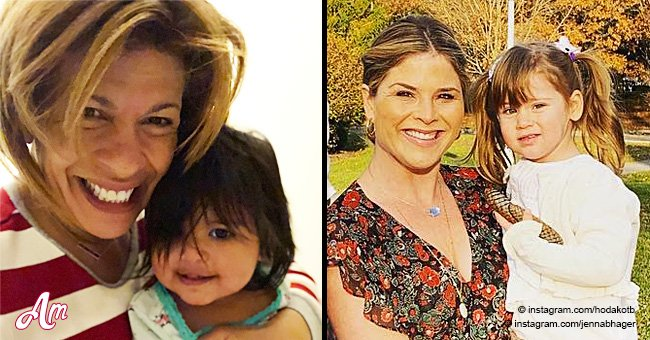 Hoda Kotb's daughter wears Jenna Bush Hager's daughter's hand-me-downs and it's adorable