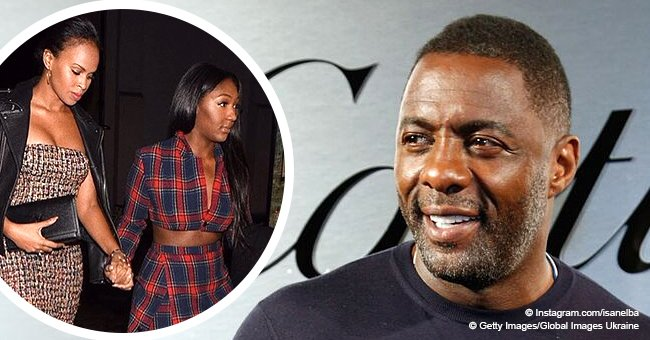 Idris Elba's 16-year-old daughter Isan glows in plaid crop top & skirt with dad's fiancée in pic