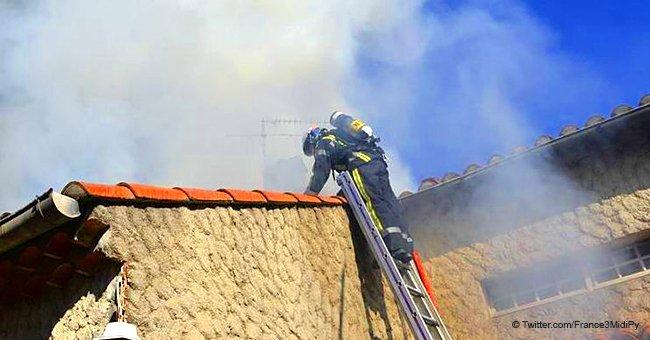 La famille de Cigogné , qui a perdu une maison dans un incendie, reçoit 5 000 euros des habitants de la ville