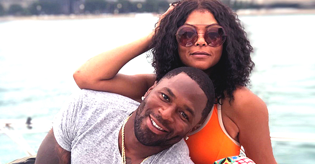 Taraji P. Henson Cuddles up to Fiancé Kelvin Hayden on Boat in Chicago in New Photos