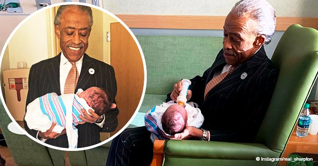 Al Sharpton glows with happiness while 'meeting his grandson for the first time' in adorable photos