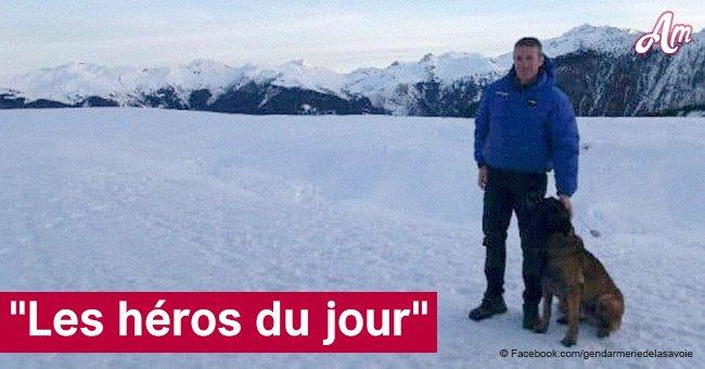Savoie: Un garçon de 12 ans enseveli sous la neige a été héroïquement sauvé par l'adjudant et son chien