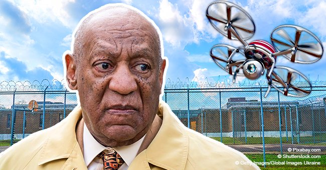 Bill Cosby targeted by drone flying overhead while he was reportedly taking a walk in prison yard