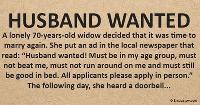 70-Year-Old Widow Wants to Marry Again and Posts Hilarious Ad in the Paper