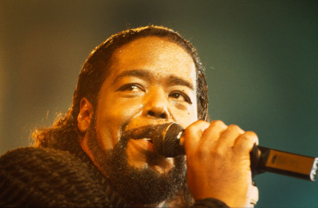 Barry White at the Diamond Awards Festival on 28th November 1987   Photo:Getty Images