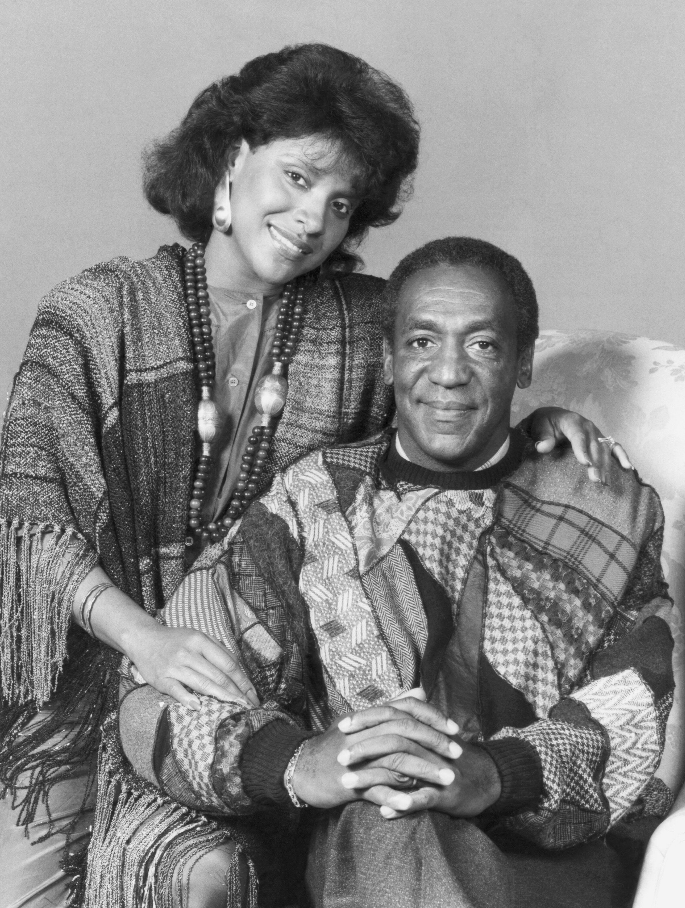 """Phylicia Rashad as Clair Hanks Huxtable, Bill Cosby as Dr. Heathcliff 'Cliff' Huxtable in """"The Cosby Show"""" 