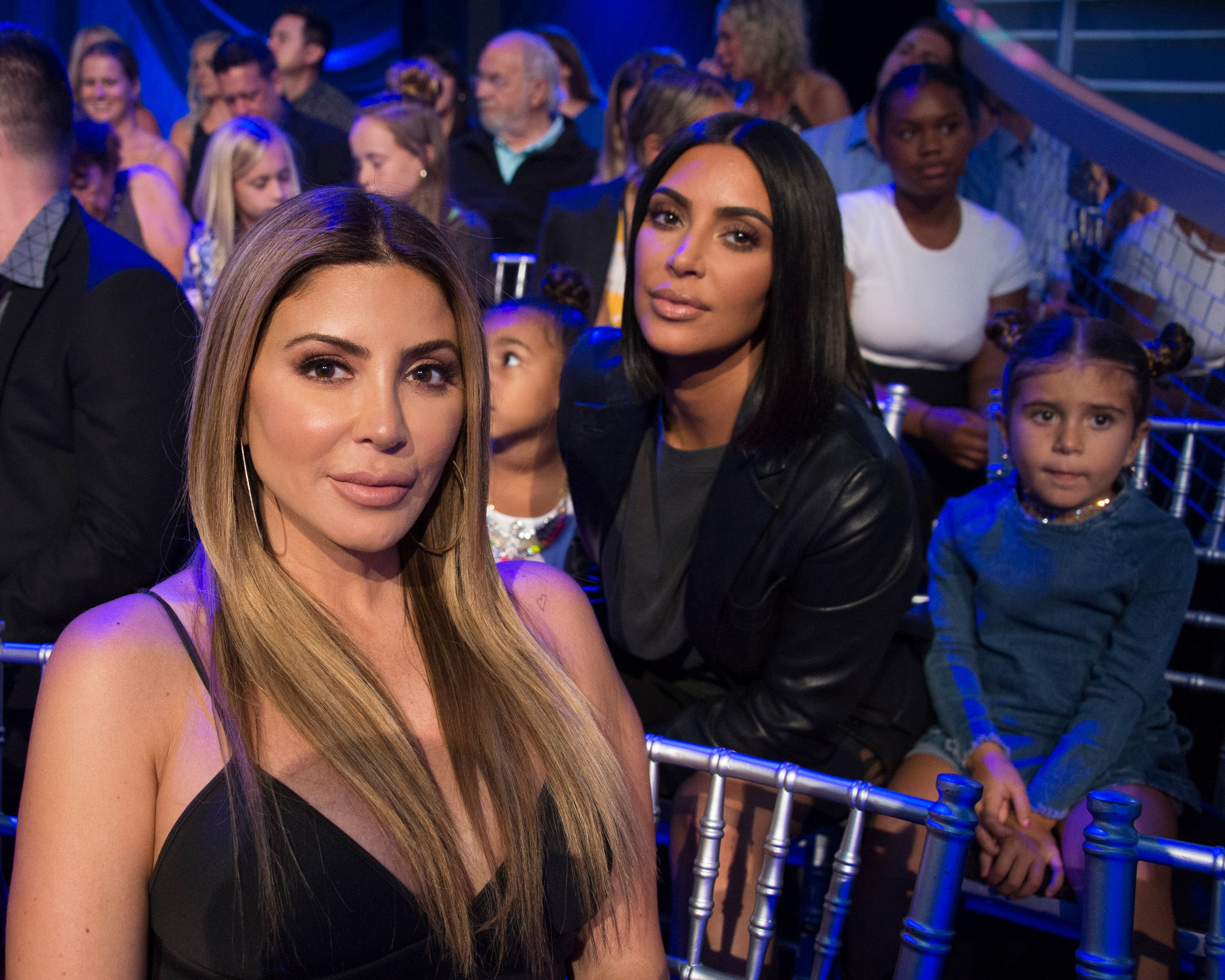 """Kim Kardashian and Larsa Pippen at the special two-hour premiere of """"Dancing with the Stars: Juniors."""" 