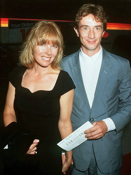 "Martin Short with his wife Nancy Dolman at the premiere of the film ""Far And Away"" in 1992. 