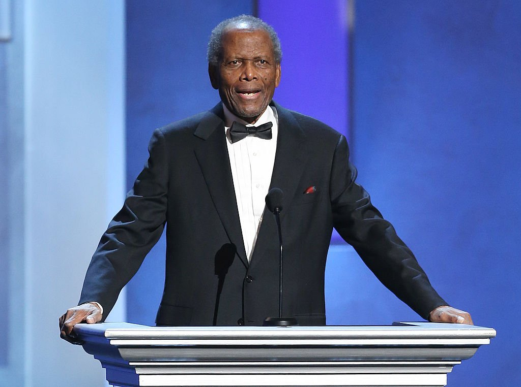 Sidney Poitier speaks at the 44th NAACP Image Awards - show held at The Shrine Auditorium on February 1, 2013. | Photo: Getty Images