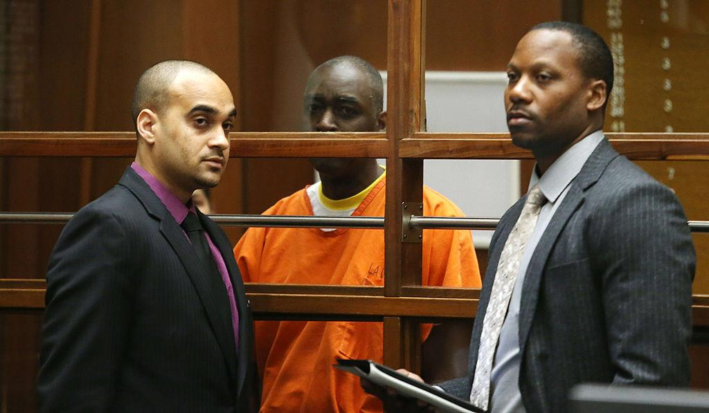 Actor Michael Jace and his attorneys appear in Los Angeles Superior Court on August 1, 2014    Photo: Getty Images