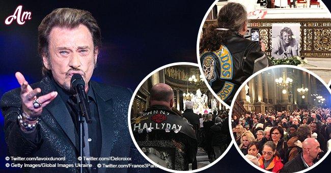 Faites du bruit pour Johnny': les fans ont transformé la messe en un concert mémorable pour Johnny Hallyday