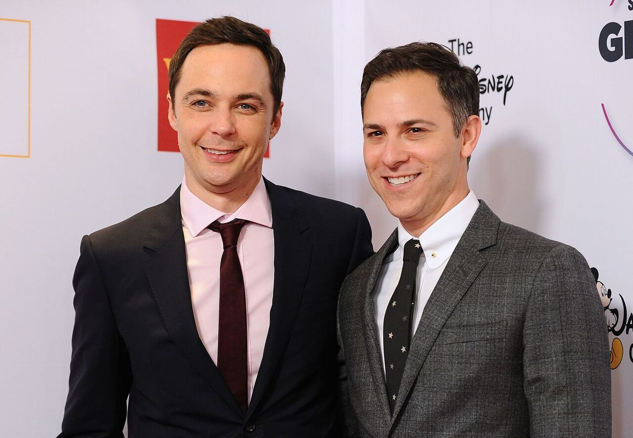 Jim Parsons and Todd Spiewak attend the 2015 GLSEN Respect Awards. | Source: Getty Images