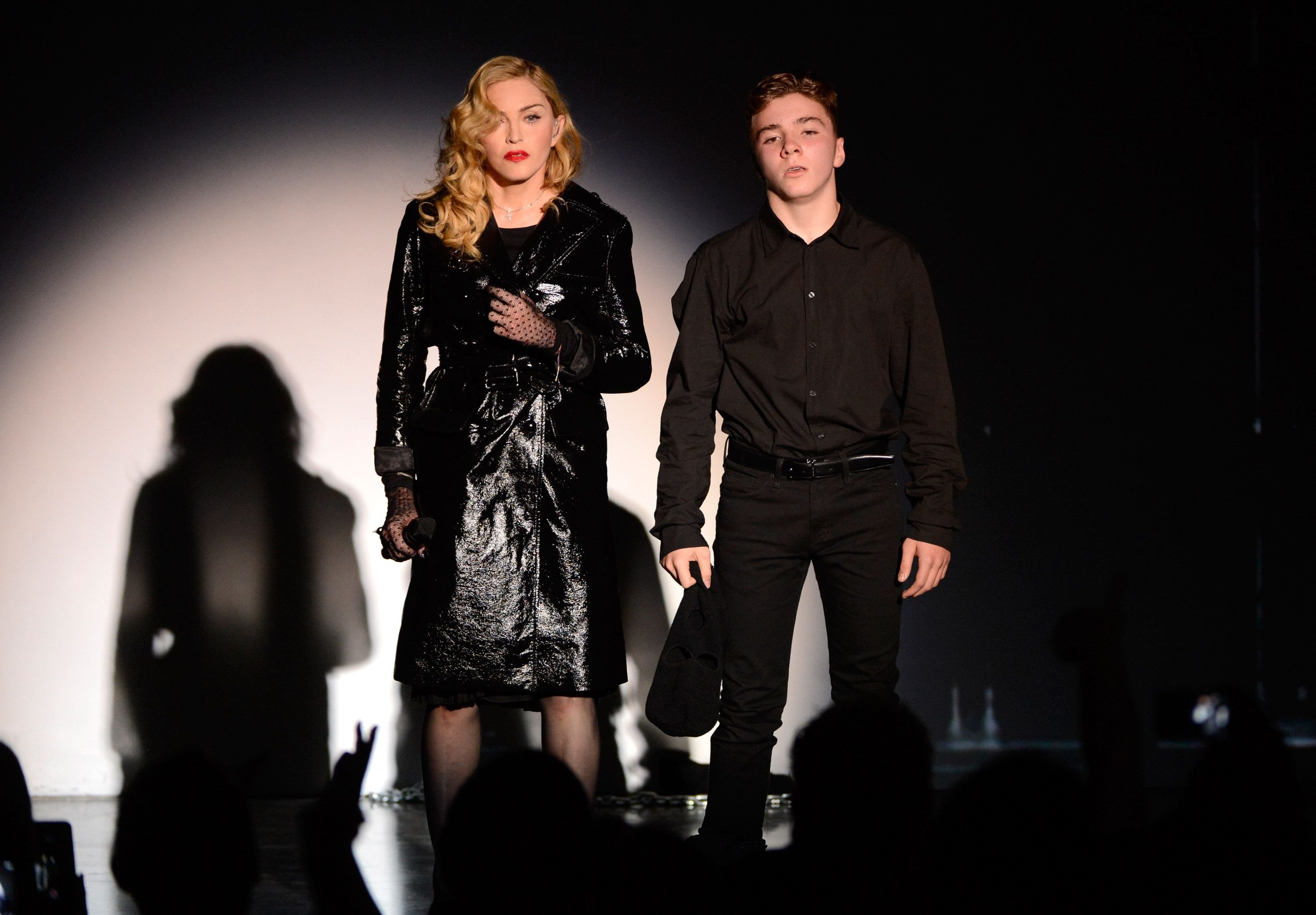 Madonna and Rocco Ritchie at the Gagosian Gallery in September 2013 in New York City | Source: Getty Images