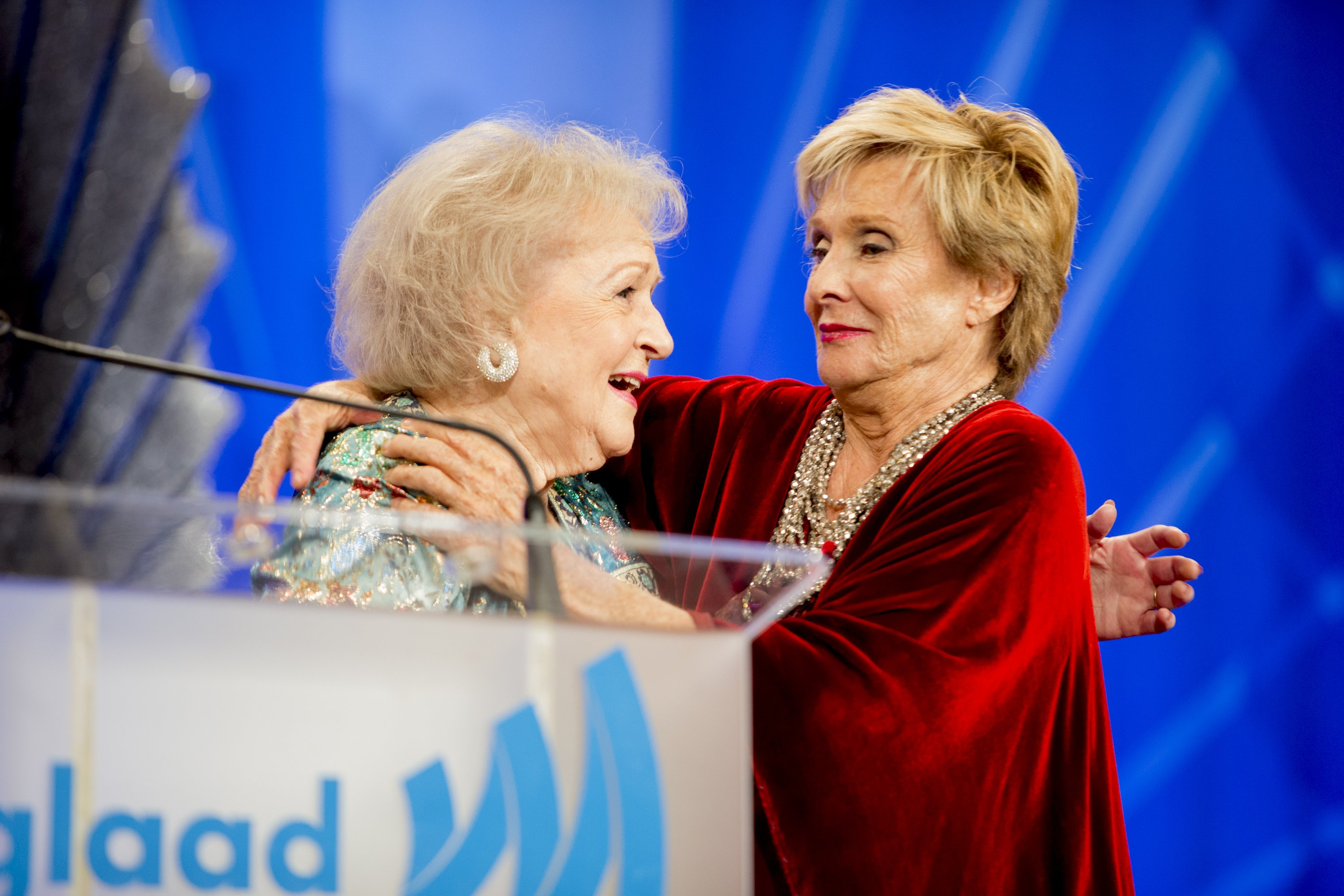 Betty White and Cloris Leachman attend the 24th Annual GLAAD Media Awards at JW Marriott Los Angeles at L.A. LIVE on April 20, 2013 in Los Angeles, California | Photo: Getty Images